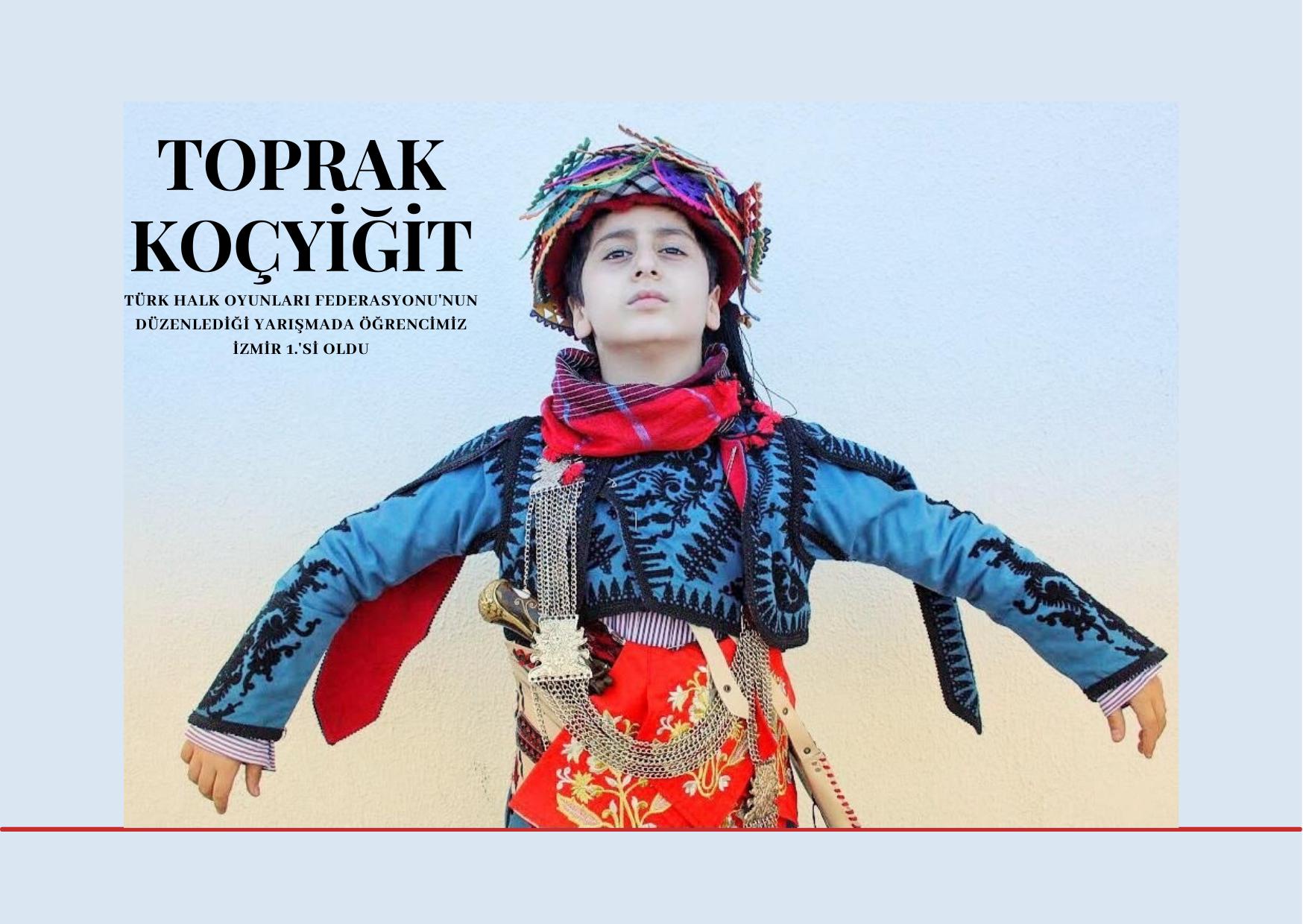 Ortaokul öğrencimiz Toprak Koçyiğit İzmir 1.'si oldu